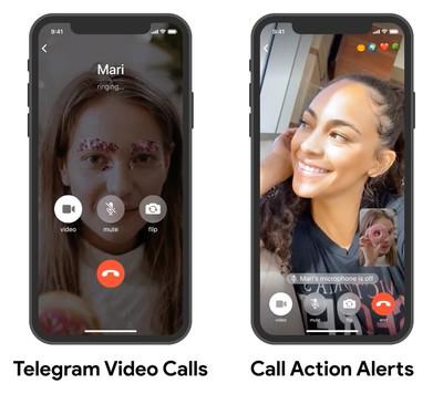 telegram video calls