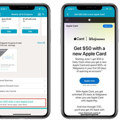 walgreens apple card 50 bonus