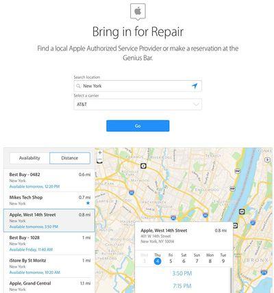 bring in repair