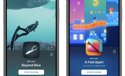 apple arcade beyond blue a fold apart