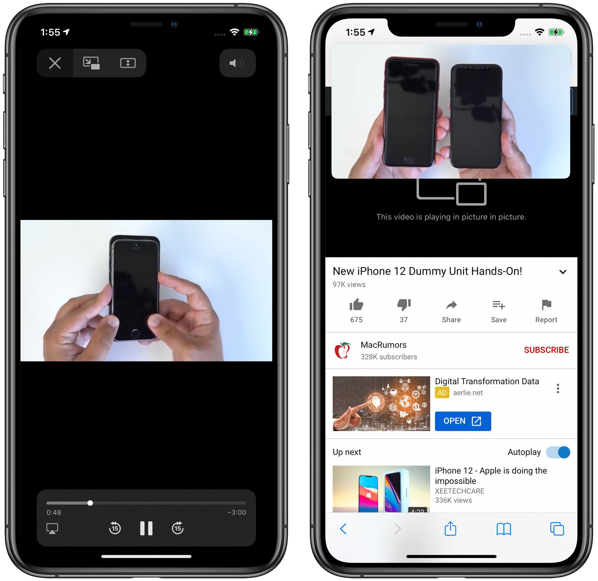 photo of Picture in Picture on iOS 14 No Longer Working With YouTube's Mobile Website in Safari image
