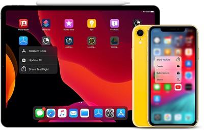 ipad pro iphone xr quick actions
