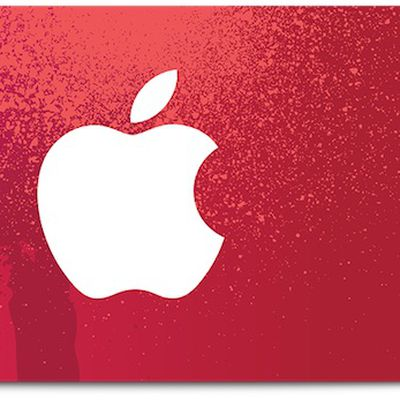 apple product red gift card