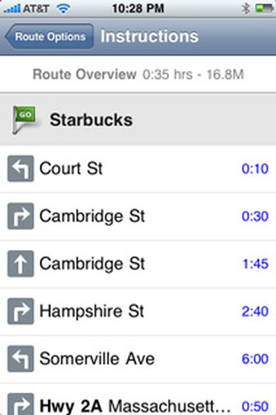 165911 tomtom route instructions