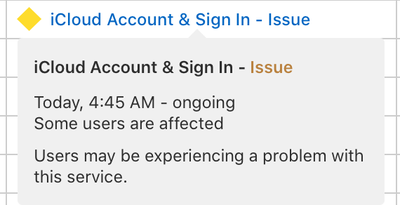 icloud sign in issue