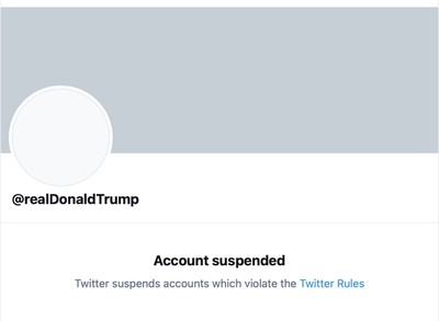 suspensi twitter donald trump