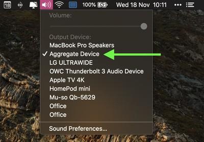 aggregate device audio device