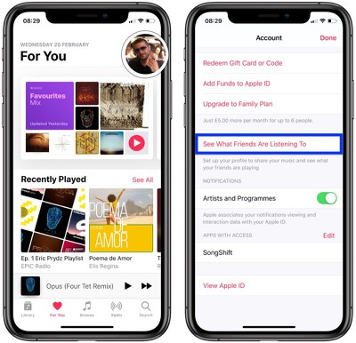 how to start sharing in apple music