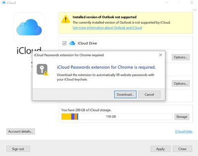 icloud password extension windows
