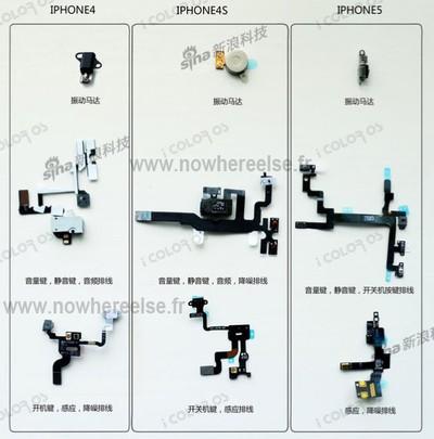 iphone 4 4s 5 component comparison 1