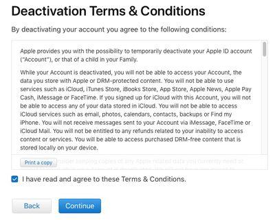 deactivation terms
