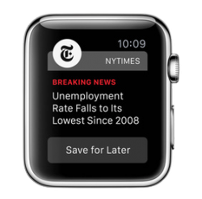 NYTimes Apple Watch