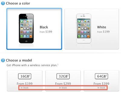 iphone 4s in stock
