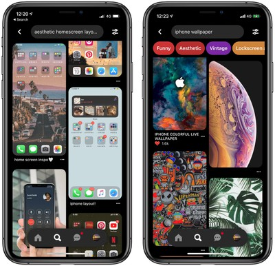 Interest In Ios 14 Home Screen Ideas Helps Pinterest Break Daily Download Record Macrumors