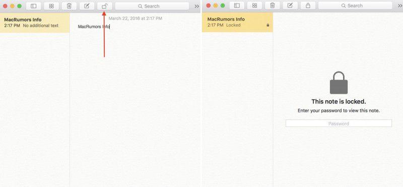 Notes Mac App Password