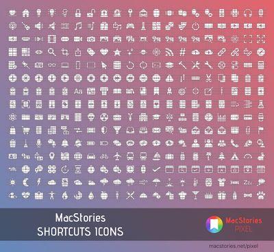 macstories shortcuts icons preview