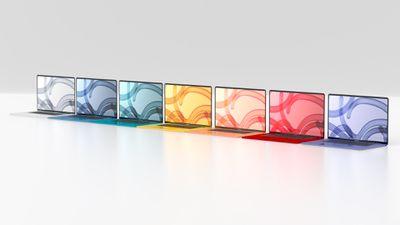 macbook colors 3d black bezels