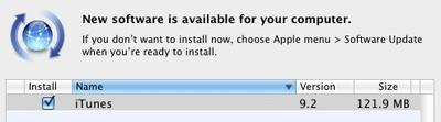 164912 itunes 9 2 software update