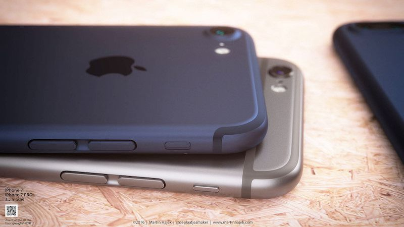 iPhone 7 deep blue concept