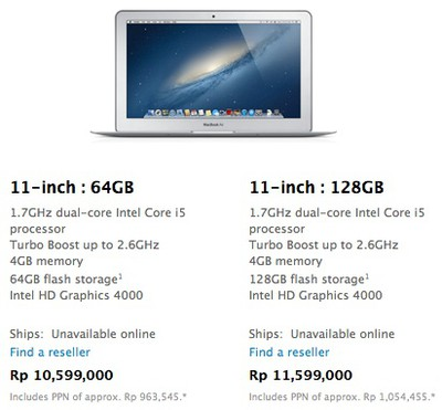 indonesia store macbook air