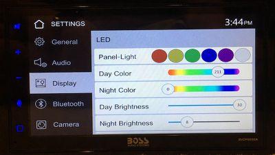 boss carplay color settings