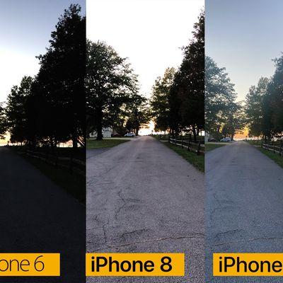 iphone camera comparison road twilight