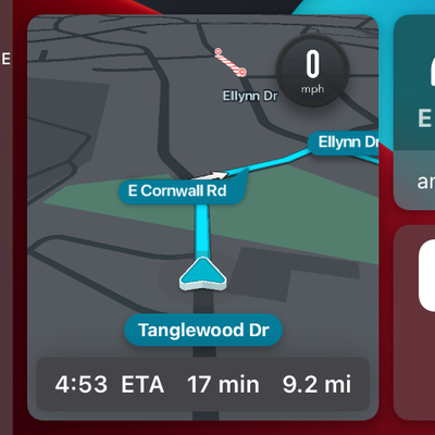 Waze Carplay Interface