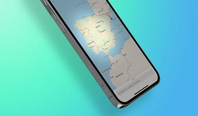 iPhone Apple Maps Spain Portugal