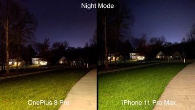 oneplus 8 pro iphone night mode