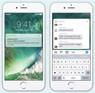 iOS 10 rich notifications