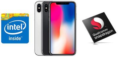 iphone x qualcomm vs intel