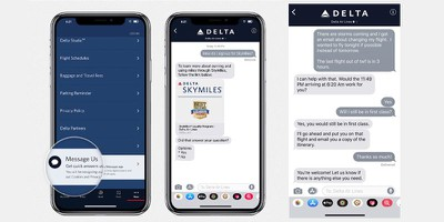 delta apple business chat
