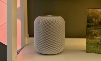 mitchs homepod on shelf