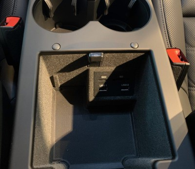 porsche macan center compartment