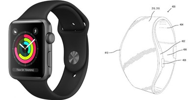 apple watch flexible display patent