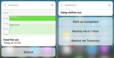 calendar-reminders 3D Touch