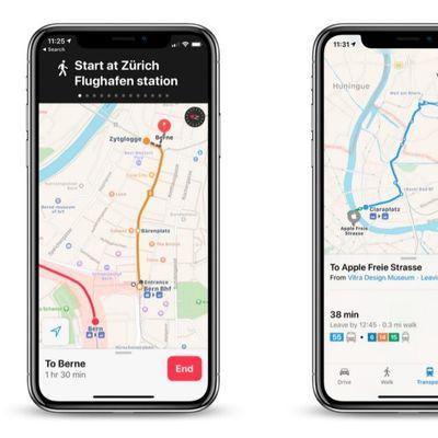 apple maps transit data switzerland