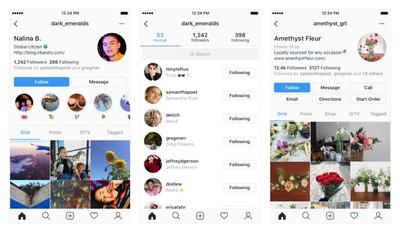instagram tests user profiles