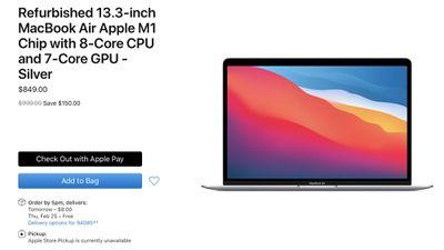 apple refurbished m1 macbook air