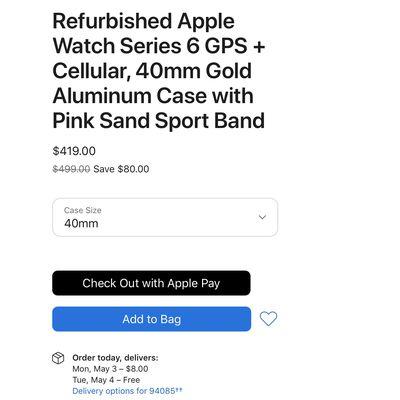 apple watch series 6 refurbished