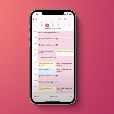 iOS Spam Calendar Feature