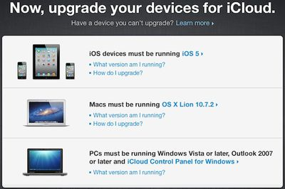 icloud upgrade devices