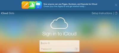 iCloud iWork Beta