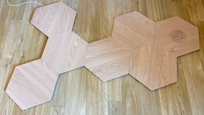 nanoleaf wood design