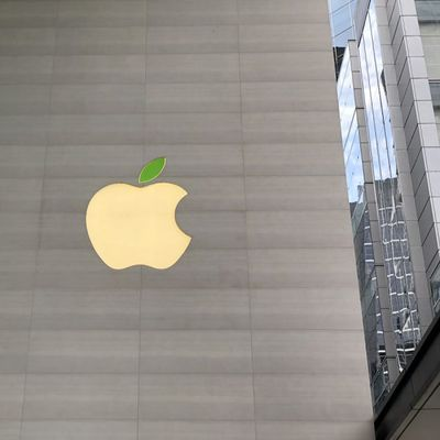 apple logo earth day singapore