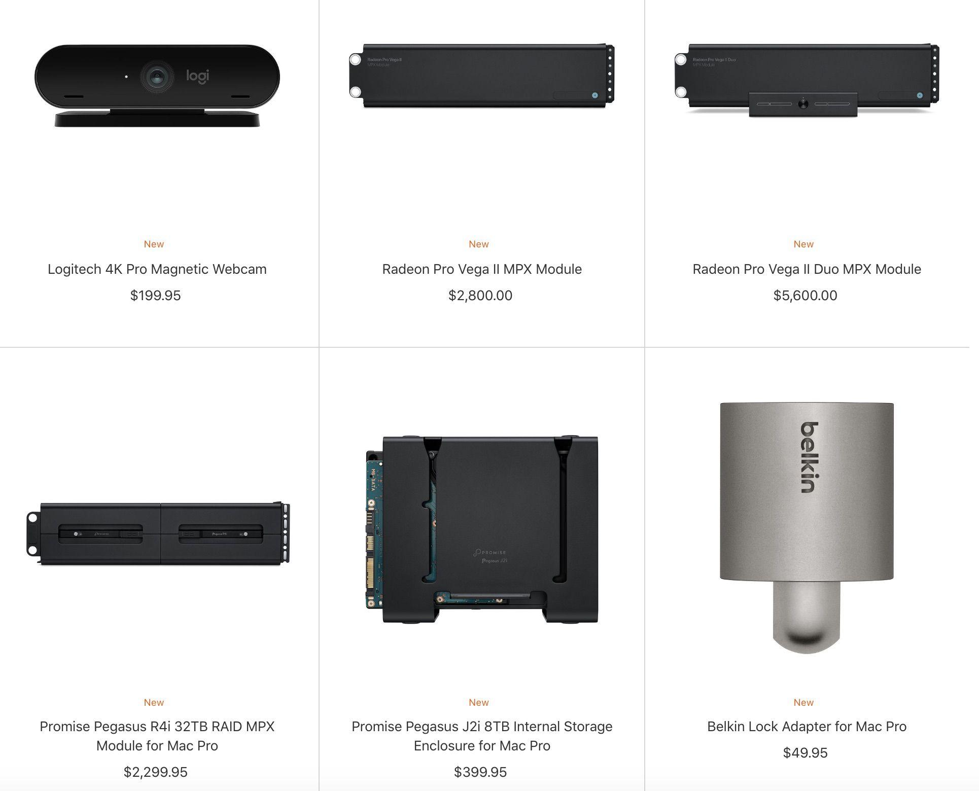 New Mac Pro Accessories Added to Apple Store, Plus Logitech 9K