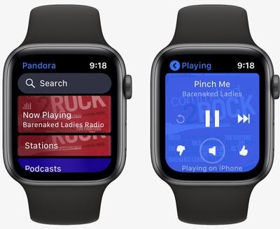 pandora apple watch app
