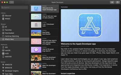 mac developer app whats new