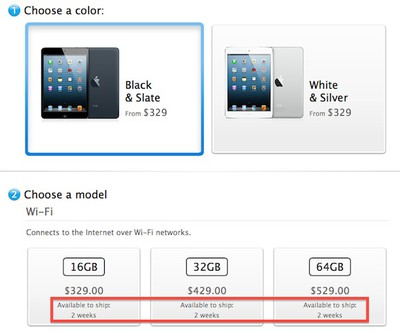 black ipad mini preorder sold out