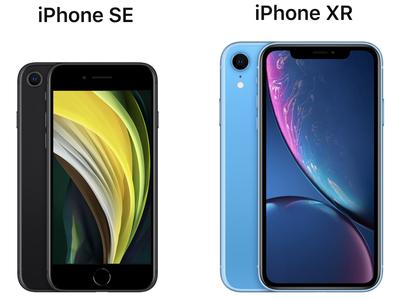 2020 iphone se vs iphone xr